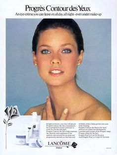 Carol Alt for Llancome 1982