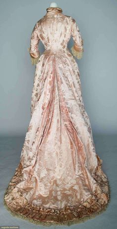 Augusta Auctions, April 17, 2013 - NYC, Lot 31: Pink Brocade Reception Gown, 1880s