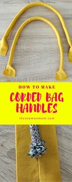 How to make corded handles