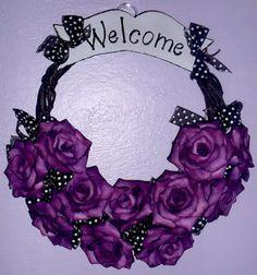 Welcome  Guirlanda de Rosas  Simone Uller Rosas Artesanais
