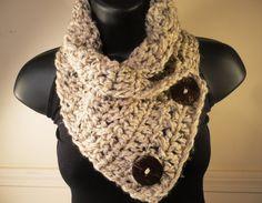 Crochet+Scarf+Crochet+Cowl+Neckwarmer+Oatmeal+by+VillaYarnDesigns,+$28.00