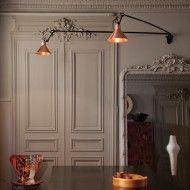 DCW éditions Lampe Gras L Double wandlamp Design Hall, Flur Design, Dark Interiors, Colorful Interiors, Dcw Editions, Lampe Gras, Estilo Interior, Interior Inspiration, Wall Lights