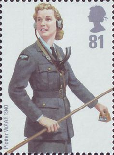"RAF Plotter WAAF (Women's Auxiliary Air Force) 1940. From UK commemorative series ""RAF Uniforms"" 2008. Designed by Atelier Design."