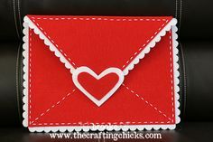 DIY Pottery Barn knockoff Felt Valentine Envelope