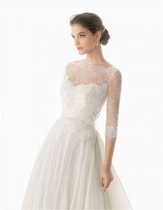 Camerun by Rosa Clara Lace Wedding Dress...with a jewel belt instead of the ugly flower