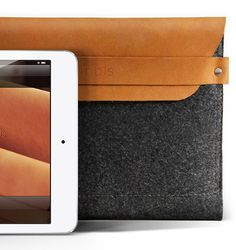 Mujjo iPad Mini Sleeve - 100% Wool Felt and Premium Leather