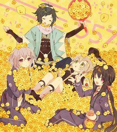 Yamato no Kami Yasusada, Hotarumaru, Honebami Toushirou, Namazuo Toushirou Anime Boys, Nikkari Aoe, Dance Images, Japanese Games, Manga, Touken Ranbu, Akita, Vocaloid, Otaku