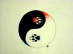Yin Yang Paw Prints (I'd use cat/dog prints)