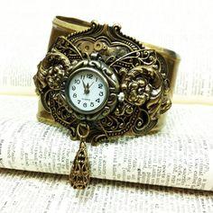 Hypnos Steampunk Watch Cuff by sodacrush.deviantart.com on @deviantART