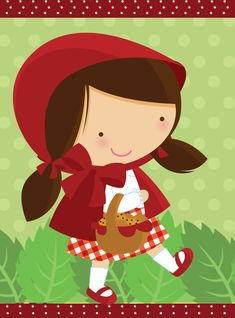 Retrospectiva Animada Chapeuzinho Vermelho Red Party Themes, Le Gui, Red Riding Hood Party, Minnie Mouse, Red Ridding Hood, Disney Fantasy, Little Red, Werewolf, 4th Birthday