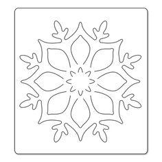 me ~ Sizzix Bigz Die - Snowflake Ornament Christmas Makes, Felt Christmas, Christmas Colors, Christmas Decorations, Christmas Ornaments, Felt Crafts, Diy And Crafts, Paper Crafts, Kirigami