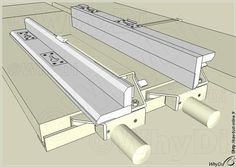 reversible fence as seen on bandsaw applications