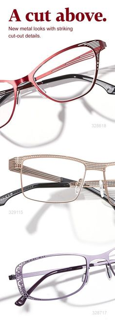 4c5ce640cf Add subtle flair to your Zenni collection with metal cut-out frames. Cool  Glasses