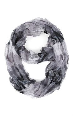 Woven Infinity Scarf with Multicolor Stripe Design....both colors pls
