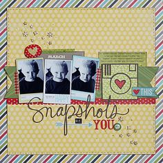 #papercrafting #scrapbook #layouts: page by Becki Adams @ shimelle.com Like the title, and the idea of different faces of your kids.