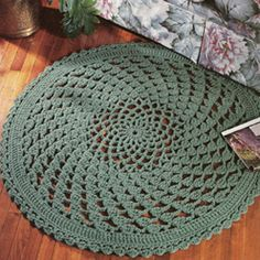 Leisure Arts - Lacy Clusters Rug Crochet Pattern