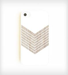 Faux Wood Geometric iPhone Case - White | Slim and sleek, this chic iPhone case sports a soothing white ... | Mobile Phone Cases