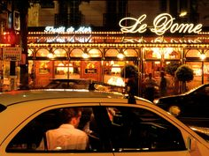 """14th arrondissement """"I don't eat fancy food, so most of my recommendations are for bistros and other elbows on-the-table sorts of places—like this one, where Hemingway met painter Jules Pascin, commemorating their story in A Moveable Feast. Here, the fish is still prepared in an old-school way (i.e., filleted tableside) and the maître d's still wear tuxedos."""" —Dorie Greenspan Restaurant Info: Le Dôme"""