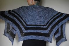 P L U M E - Shawl design by Lisa Mutch -   The unique shape, contrasting colours and varying textures give this shawl it's dramatic flair. http://www.ravelry.com/patterns/library/plume-4