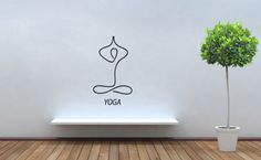 Wall Decor Vinyl Decal Sticker Yoga Sign TZ516 | eBay