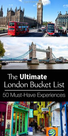 London Bucket List Best Things to do