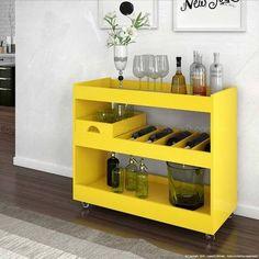 Aparador/Bar 4030 Amarelo - JB Bechara | Lojas KD