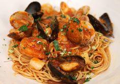 Pasta Pescatore - Delicious seafood pasta - use costco seafood medley
