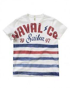 T-shirt às riscas mélange - T-SHIRTS E TOPS - TODDLER BOY - CRIANÇA