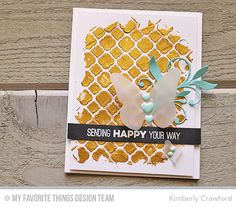 Friends Like Us, Modern Morocco Cover-Up Die-namics, Simple Leaf Flourishes Die-namics, Winged Beauties Die-namics - Kimberly Crawford  #mftstamps