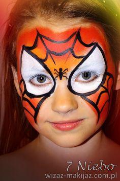 Malowanie twarzy: spiderwomen / kobieta pająk / Rybnik