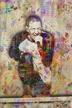 Art of Music Chester Bennington Music Art Poster, Linkin Park Tribute Art – McQDesign Chester Bennington, Charles Bennington, Linkin Park Wallpaper, Linking Park, Music Lyrics Art, Rock Y Metal, Linkin Park Chester, Chester Rip, Pop Art Posters