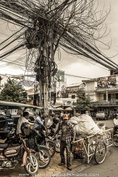 https://flic.kr/p/y53mwy | A love story between a tree and electrics wires | Common scenery seen in Phnom Penh, Cambodia