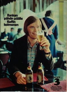 Koffin III Beer Poster, Old Commercials, Good Old Times, Old Ads, Historian, Old Pictures, Vintage Ads, Finland, Album Covers