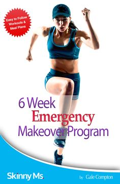 Get in the best shape of your life in just 6 weeks! Meal plan and exercise plan included :) #6week #emergency #makeover #program