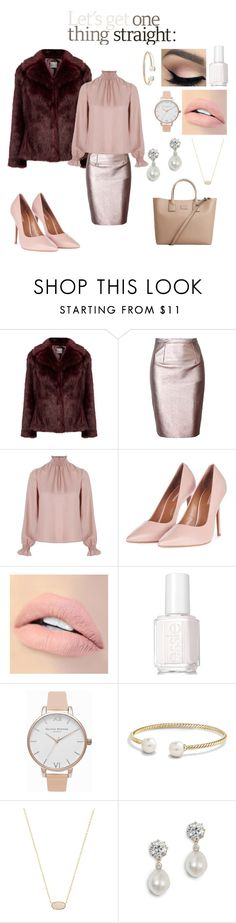 """""""Independent Woman"""" by alittlebitunsure ❤ liked on Polyvore featuring Related, Topshop, Jouer, Essie, Olivia Burton, David Yurman, Kendra Scott and MANGO"""