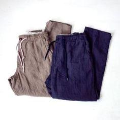 Sanca サンカ Linen cropped eazy pants リネン・クロップド・イージーパンツ