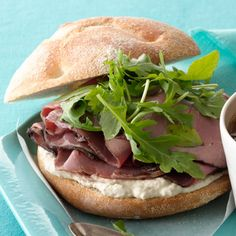 Roast beef and horseradish is a classic combo, and these sandwiches do not disappoint. #sandwich #food