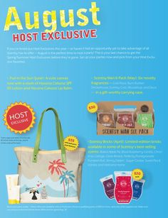August 2013 host exclusives for Scentsy https://tifferoo3.scentsy.us