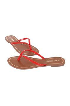 Flat Thong Sandal Women Brianna-61-42 JS Awake Red