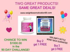NOT JUST FOR WEIGHT LOSS!  ALL products 100% money back guarantee! Mix or Match!  Info at http://www.weightlossmotivation90.com