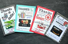 Teacher Appreciation Gift Card Holders Hip2Save