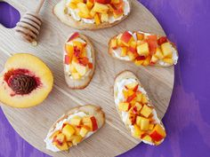 Peach and Ricotta Crostini | Healthy Snack Recipes for Kids | Everywhere