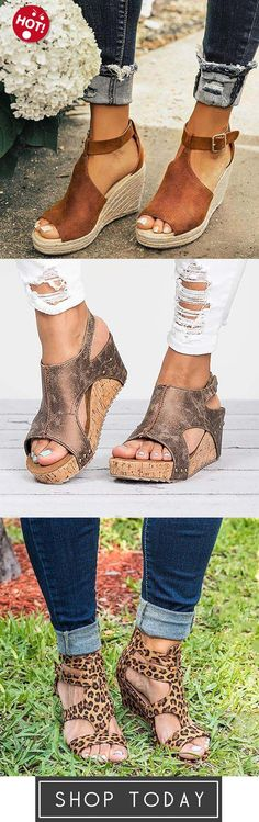 5c69c14b1f63 Women Chic Espadrille Wedges Sandals with Adjustable Buckle