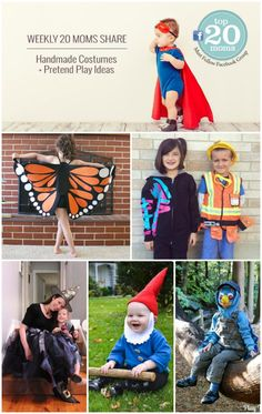Have you joined the 20 Moms Facebook Group yet? Each week we gather and share ideas / inspiration. This week was all about Handmade Halloween Costumes and you just have to see all the creativity being shared over there! From Astronauts to Olaf and everything in between -- this is one of my favorite spaces to connect with like-minded moms. Come join us today!