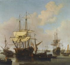 Samuel Scott, Shipping at Anchor in the Thames Estuary, Near Wapping | Sotheby's