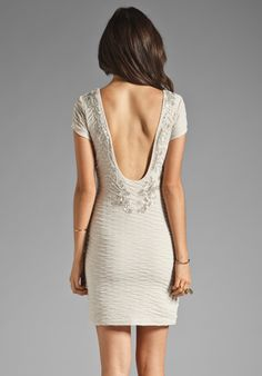 FREE PEOPLE Bringing Sexy Back Dress in Champagne Combo at Revolve Clothing
