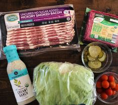 Bacon Ranch Burger Salad (Paleo, Whole30, Keto) - Glitter On A Dime Beef Bacon, Smoked Bacon, Ranch Burgers, Burger Salad, Sugar Free Bacon, Cooking With Ground Beef, Bacon In The Oven, Paleo, Keto