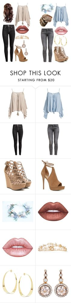"""Untitled #12"" by songird on Polyvore featuring Sans Souci, H&M, Levi's, ALDO, Lime Crime, Rosantica, Lana and Selim Mouzannar"