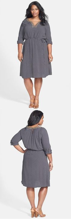 Beaded Shirtdress (Plus Size)