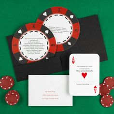 Take A Gamble Invitation Suite 100 by alisamariedesigns on Etsy, $360.00